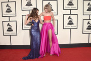 Musicians Selena Gomez (L) and Taylor Swift attend The 58th GRAMMY Awards at Staples Center on February 15, 2016 in Los Angeles, California.