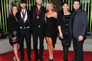 (L-R) Dave Haywood, Charles Kelley, Cassie McConnell, Hilllary Scott and Chris Tyrrell of Lady Antebellum attend the 59th Annual BMI Country Awards on November 8, 2011 in Nashville, Tennessee.