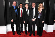 (L-R) Tierney Sutton Band, jazz pianist Christian Jacob, and singer Tierney Sutton attend The 59th GRAMMY Awards at STAPLES Center on February 12, 2017 in Los Angeles, California.