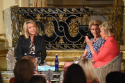 (L-R) Journalist Deborah Norville, President Emerita of the Metropolitan Museum of Art Emily Rafferty and Journalist Tina Brown speak onstage at the 5th Annual Elly Awards hosted by the Women's Forum of New York honoring Tina Brown & Emily Rafferty at The Plaza Hotel - 5th Avenue on June 22, 2015 in New York City.