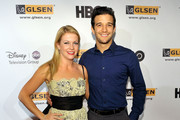 Actress Melissa Joan Hart and dancer Mark Ballas arrive at the 5th Annual GLSEN Respect Awards at the Beverly Hills Hotel on October 9, 2009 in Beverly Hills, California.