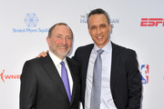 Gary Bettman (L) and Jimmy Pitaro attend the 5th annual Sports Humanitarian Awards presented by ESPN at The Novo Theater at L.A. Live on July 09, 2019 in Los Angeles, California.