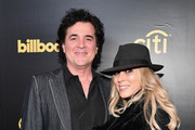 CEO of Big Machine Records Scott Borchetta (L) and SVP Creative of Big Machine Label Group Sandi Spika Borchetta attend the 2018 Billboard Power 100 celebration at Nobu 57 on January 25, 2018 in New York City.