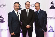 (L-R) President and COO Republic Records Avery Lipman, 2018 Entertainment Law Initiative Service Award recipient Michael Reinert, and Chairman and CEO Republic Records Monty Lipman attend The Recording Academy's 20th annual Entertainment Law Initiative® Event & Scholarship Presentation on January 26, 2018 at New World Stages at Worldwide Plaza in New York City. For more information, visit www.grammy.com/entertainment-law-initiative.