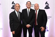 President and CEO, Recording Academy, Board Chair, GRAMMY Museum®  Neil Portnow,  2018 Entertainment Law Initiative Service Award recipient Michael Reinert, and Chair, National Board of Trustees, Recording Academy John Poppo attend the Recording Academy's 20th annual Entertainment Law Initiative® Event & Scholarship Presentation on January 26, 2018 at New World Stages at Worldwide Plaza in New York City. For more information, visit www.grammy.com/entertainment-law-initiative.