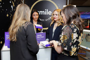 Actors Abby Mueller (L) and Kara Lindsay (R) attend the GRAMMY Gift Lounge during the 60th Annual GRAMMY Awards at Madison Square Garden on January 25, 2018 in New York City.