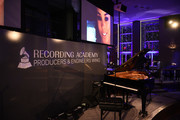 Signage at the Producers and Engineers Wing 11th Annual GRAMMY Week Event Honoring Swizz Beatz And Alicia Keys at The Rainbow Room on January 25, 2018 in New York City.