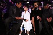 Recording artist Jay-Z, Blue Ivy Carter and Beyonce attend the 60th Annual GRAMMY Awards at Madison Square Garden on January 28, 2018 in New York City.
