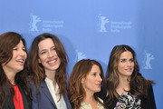 (L-R) Actresses Catherine Keener, Rebecca Hall, director Nicole Holofcener and actress Amanda Peet attend the 'Please Give' Photocall during day six of the 60th Berlin International Film Festival at the Grand Hyatt Hotel on February 16, 2010 in Berlin, Germany.