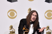 'Weird Al' Yankovic poses in the press room during the 61st Annual GRAMMY Awards at Staples Center on February 10, 2019 in Los Angeles, California.