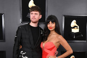 James Blake and Jameela Jamil attend the 61st Annual GRAMMY Awards at Staples Center on February 10, 2019 in Los Angeles, California.