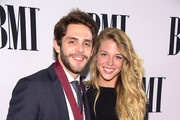 Thomas Rhett and Lauren Gregory  attend the 62nd annual BMI Country awards on November 4, 2014 in Nashville, Tennessee.