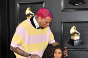 Chris Brown (L) and Royalty Brown attend the 62nd Annual GRAMMY Awards at Staples Center on January 26, 2020 in Los Angeles, California.