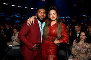 (L-R) Khalid and Rosalía attend the 62nd Annual GRAMMY Awards at STAPLES Center on January 26, 2020 in Los Angeles, California.