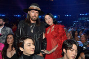 (L-R) Billy Ray Cyrus and Noah Cyrus during the 62nd Annual GRAMMY Awards at STAPLES Center on January 26, 2020 in Los Angeles, California.