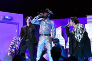 BTS and Lil Nas X  perform onstage during the 62nd Annual GRAMMY Awards at STAPLES Center on January 26, 2020 in Los Angeles, California.