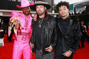 (L-R) Lil Nas X, Billy Ray Cyrus and YoungKio attend the 62nd Annual GRAMMY Awards at STAPLES Center on January 26, 2020 in Los Angeles, California.