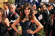 Actress Lea Michele arrives at the 62nd Annual Primetime Emmy Awards held at the Nokia Theatre L.A. Live on August 29, 2010 in Los Angeles, California.