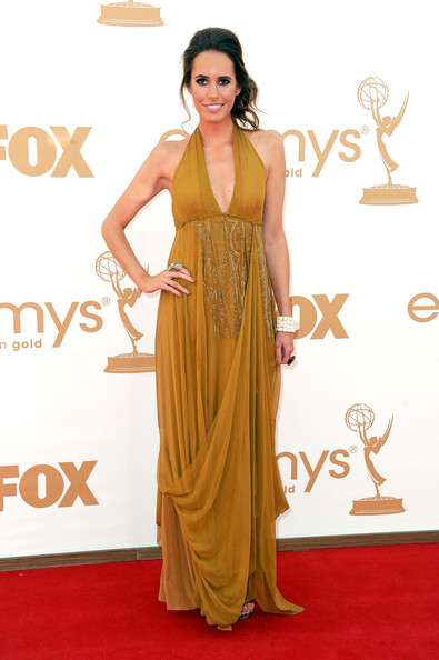 Actress Louise Roe arrives at the 63rd Annual Primetime Emmy Awards held at Nokia Theatre L.A. LIVE on September 18, 2011 in Los Angeles, California.