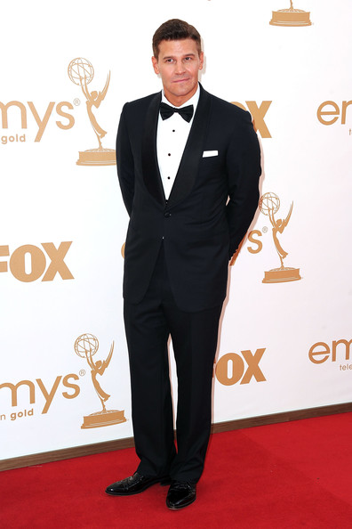 Actor David Boreanaz arrives at the 63rd Annual Primetime Emmy Awards held at Nokia Theatre L.A. LIVE on September 18, 2011 in Los Angeles, California.