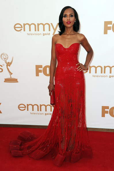 Actress Kerry Washington arrives at the 63rd Annual Primetime Emmy Awards held at Nokia Theatre L.A. LIVE on September 18, 2011 in Los Angeles, California.