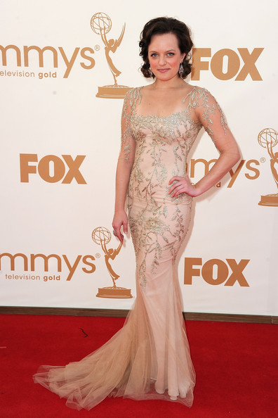 Actress Elizabeth Moss arrives at the 63rd Annual Primetime Emmy Awards held at Nokia Theatre L.A. LIVE on September 18, 2011 in Los Angeles, California.