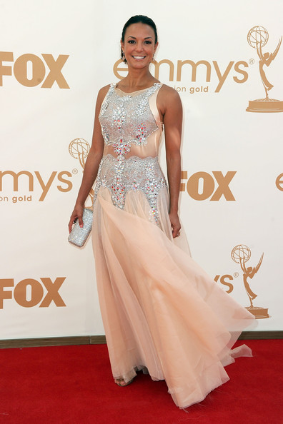 Actress Eva La Rue arrives at the 63rd Annual Primetime Emmy Awards held at Nokia Theatre L.A. LIVE on September 18, 2011 in Los Angeles, California.