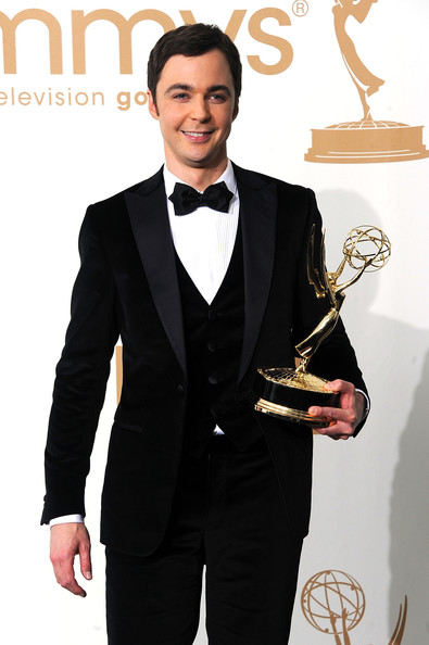 Actor Jim Parsons of The Big Bang Theory poses in the press room after winning outstanding lead actor in a comedy series 2011 during the 63rd Annual Primetime Emmy Awards held at Nokia Theatre L.A. LIVE on September 18, 2011 in Los Angeles, California.