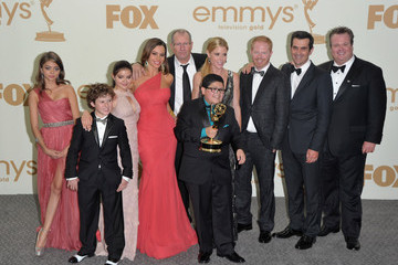 Ariel Winter Ty Burrell Press Room Shots from the Emmy Awards