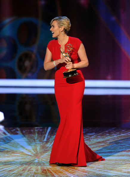 Actress Kate Winslet accepts the Outstanding Lead Actress in a Miniseries or Movie award onstage during the 63rd Annual Primetime Emmy Awards held at Nokia Theatre L.A. LIVE on September 18, 2011 in Los Angeles, California.