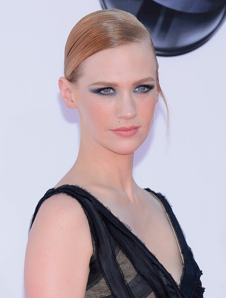 January Jones arrives at the 64th Annual Primetime Emmy Awards at Nokia Theatre L.A. Live on September 23, 2012 in Los Angeles, California.