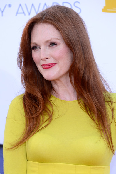 Actress Julianne Moore arrives at the 64th Annual Primetime Emmy Awards at Nokia Theatre L.A. Live on September 23, 2012 in Los Angeles, California.