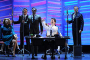 Sean Hayes performs with the cast of Promises Promises onstage during the 64th Annual Tony Awards at Radio City Music Hall on June 13, 2010 in New York City.