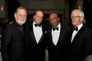 (L-R) DGA President Taylor Hackford, DGA Awards Chair Michael Stevens, director Paris Barclay, and Robert Aldrich Award honoree Michael Apted attend the 65th Annual Directors Guild Of America Awards at Ray Dolby Ballroom at Hollywood & Highland on February 2, 2013 in Los Angeles, California.