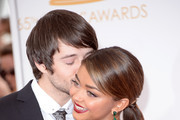 Actors Matt Prokop (L) and Sarah Hyland arrive at the 65th Annual Primetime Emmy Awards held at Nokia Theatre L.A. Live on September 22, 2013 in Los Angeles, California.