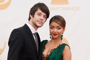 Actors Sarah Hyland and Matt Prokop arrive at the 65th Annual Primetime Emmy Awards held at Nokia Theatre L.A. Live on September 22, 2013 in Los Angeles, California.