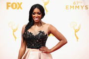 TV personality Porsha Williams attends the 67th Annual Primetime Emmy Awards at Microsoft Theater on September 20, 2015 in Los Angeles, California.