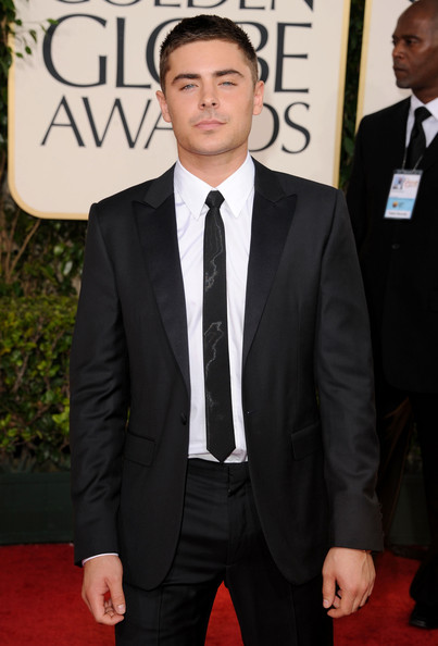 Actor Zac Efron arrives at the 68th Annual Golden Globe Awards held at The Beverly Hilton hotel on January 16, 2011 in Beverly Hills, California.