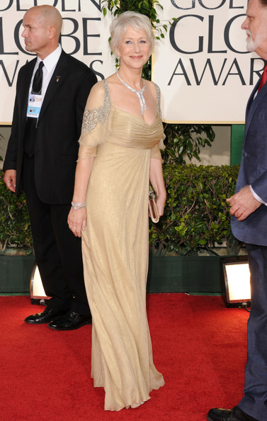 Actress Helen Mirren arrives at the 68th Annual Golden Globe Awards held at The Beverly Hilton hotel on January 16, 2011 in Beverly Hills, California.
