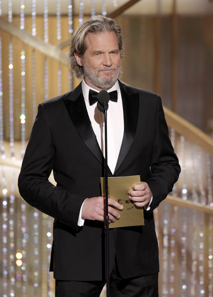 In this handout photo provided by NBC, Presenter Jeff Bridges speaks onstage during the Golden Globes at the Beverly Hilton International Ballroom on January 16, 2011 in Beverly Hills, California.