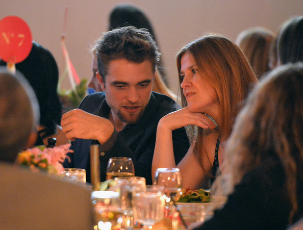 Actor Robert Pattinson and agent Stephanie Ritz attend the 6th annual Go Go Gala on November 14, 2013 in Pacific Palisades, California.