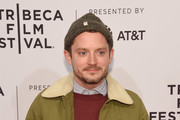 """Elijah Wood attends the screening of """"7 Stages to Achieve Eternal Bliss By Passing Through The Gateway Chosen By the Holy Storsh"""" during the Tribeca Film Festival at SVA Theatre on April 20, 2018 in New York City."""