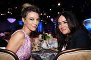 Actors Natalie Zea (L) and Pamela Adlon pose during the 70th Annual Directors Guild Of America Awards at The Beverly Hilton Hotel on February 3, 2018 in Beverly Hills, California.