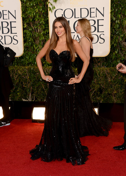 Actress Sofia Vergara arrives at the 70th Annual Golden Globe Awards held at The Beverly Hilton Hotel on January 13, 2013 in Beverly Hills, California.