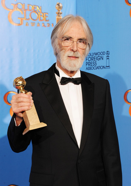 "Filmmaker Michael Haneke, winner of Best Foreign Language Film for ""Amour,"" poses in the press room during the 70th Annual Golden Globe Awards held at The Beverly Hilton Hotel on January 13, 2013 in Beverly Hills, California."