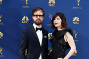 Carrie Brownstein (R) and guest attend the 70th Emmy Awards at Microsoft Theater on September 17, 2018 in Los Angeles, California.