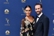 Maria Dolores Dieguez (L) and Joseph Fiennes attend the 70th Emmy Awards at Microsoft Theater on September 17, 2018 in Los Angeles, California.