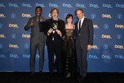 """(L-R) Mahershala Ali, Peter Farrelly, Feature Film Nomination Award winner for """"Green Book,"""" Linda Cardellini and Viggo Mortensen pose in the press room during the 71st Annual Directors Guild Of America Awards at The Ray Dolby Ballroom at Hollywood & Highland Center on February 02, 2019 in Hollywood, California."""