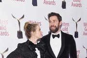 Emily Blunt and Johh Krasinski attend the 71st Annual Writers Guild Awards New York ceremony at Edison Ballroom on February 17, 2019 in New York City.