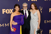 (L-R) Amy Landecker, Bradley Whitford, and Mary Louisa Whitford attend the 71st Emmy Awards at Microsoft Theater on September 22, 2019 in Los Angeles, California.